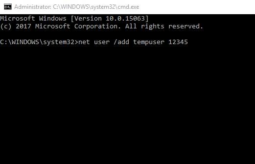 Create User Via CMD in Windows 10